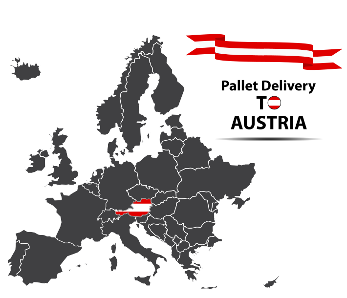 Pallet delivery to Austria Map