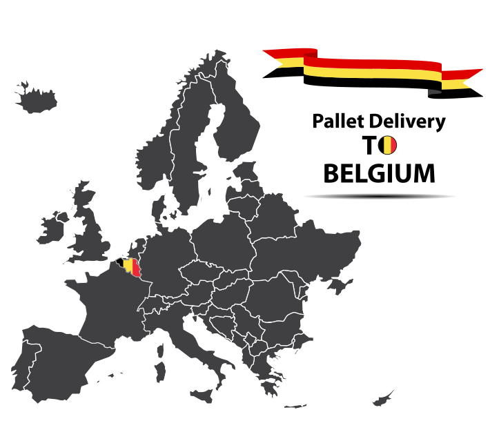 Pallet delivery to Belgium Map