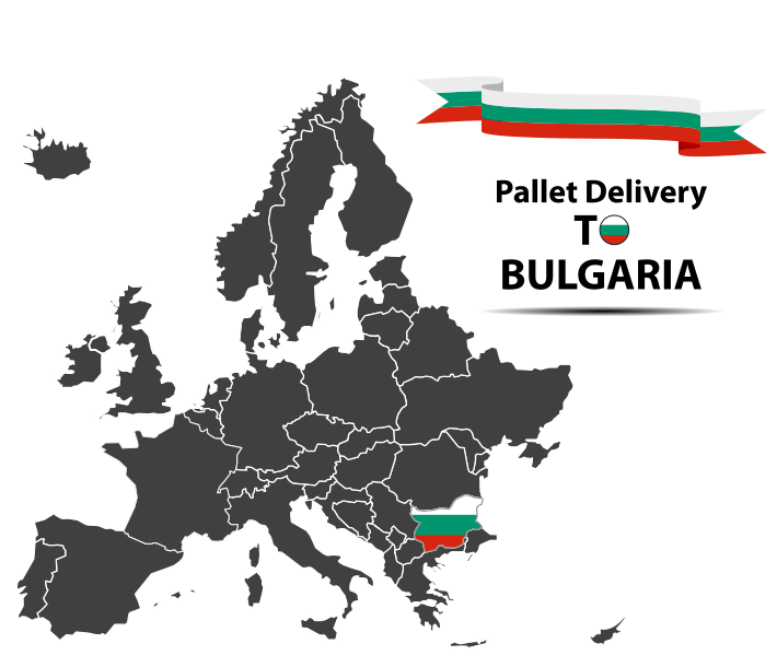 Pallet delivery to Bulgaria Map