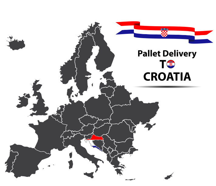 Pallet delivery to Croatia Map