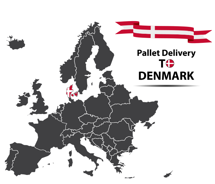 Pallet delivery to Denmark Map