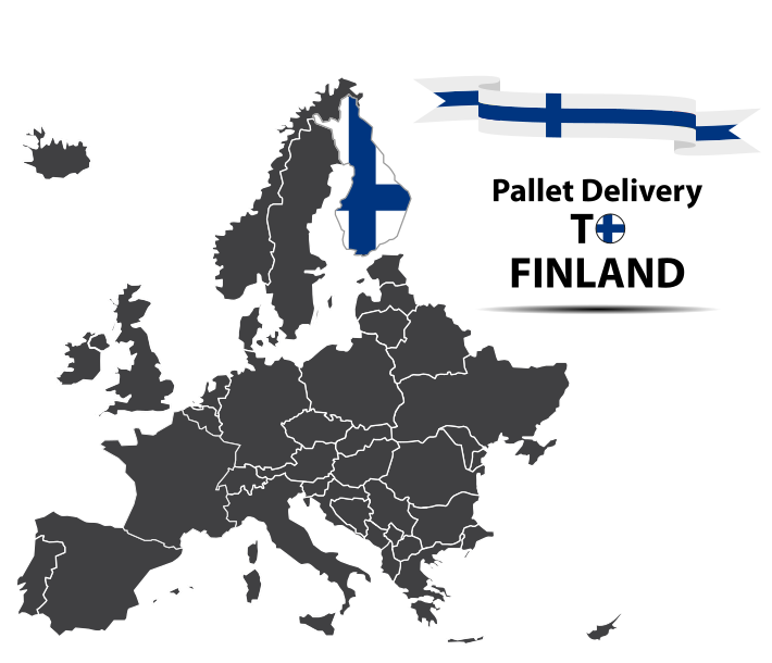 Pallet delivery to Finland Map