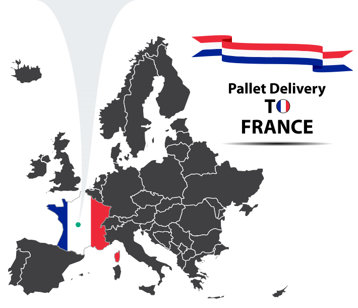 Pallet delivery to France Map