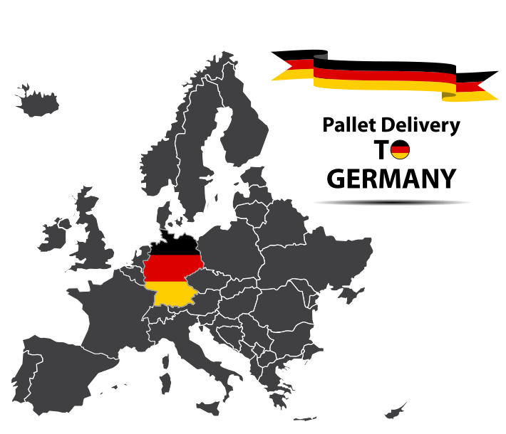 Pallet delivery to Germany Map
