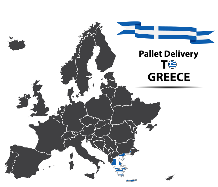 Pallet delivery to Greece Map