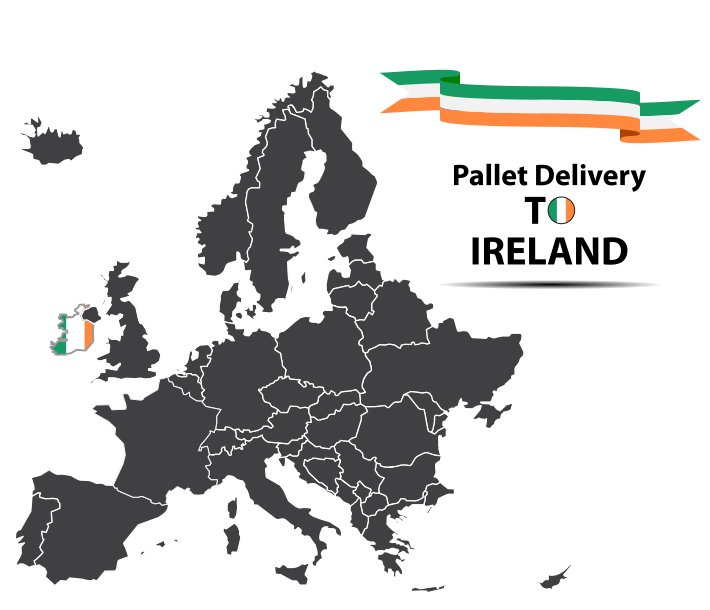 Pallet delivery to Ireland Map