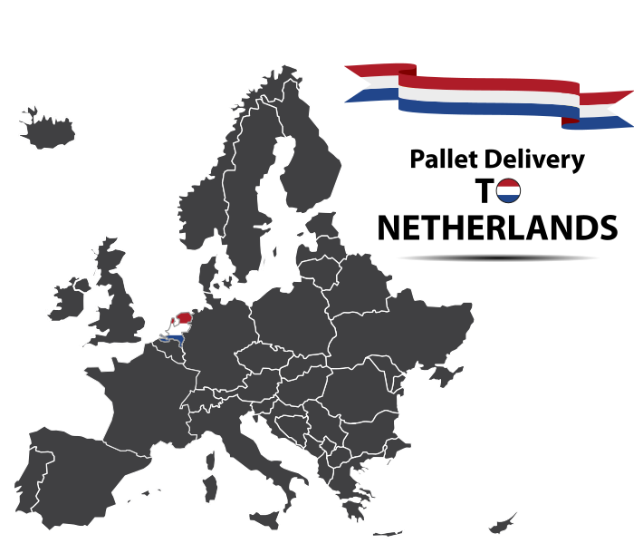Pallet delivery to Netherlands Map