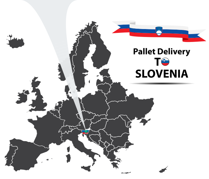 Pallet delivery to Slovenia Map