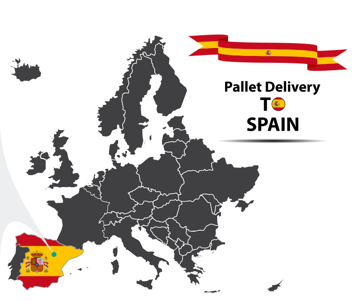 Pallet delivery to Spain Map