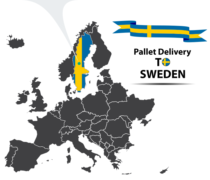 Pallet delivery to Sweden Map